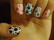 colorful polka dot nails