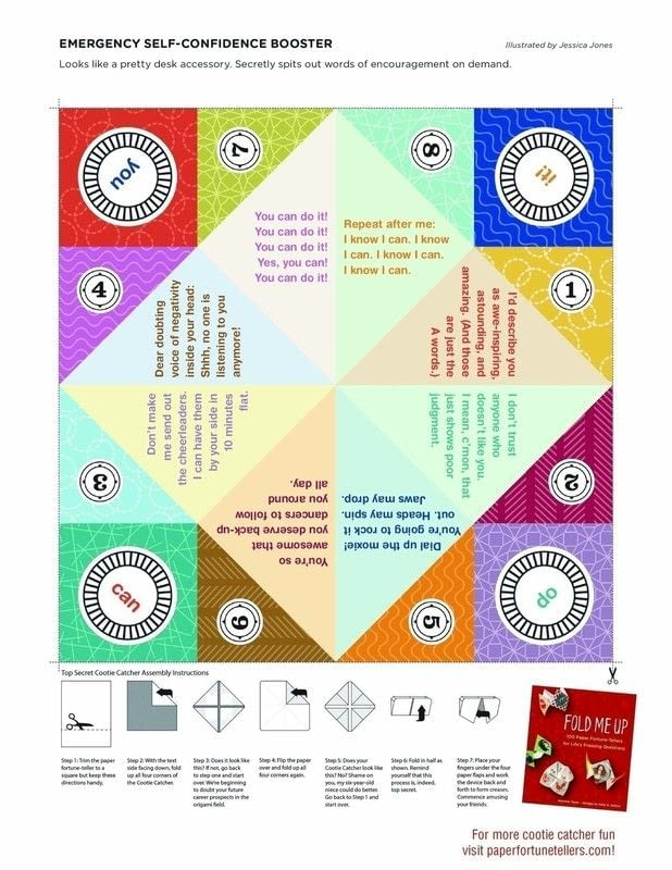 Top Secret Cootie Catcher Extract From Fold Me Up By