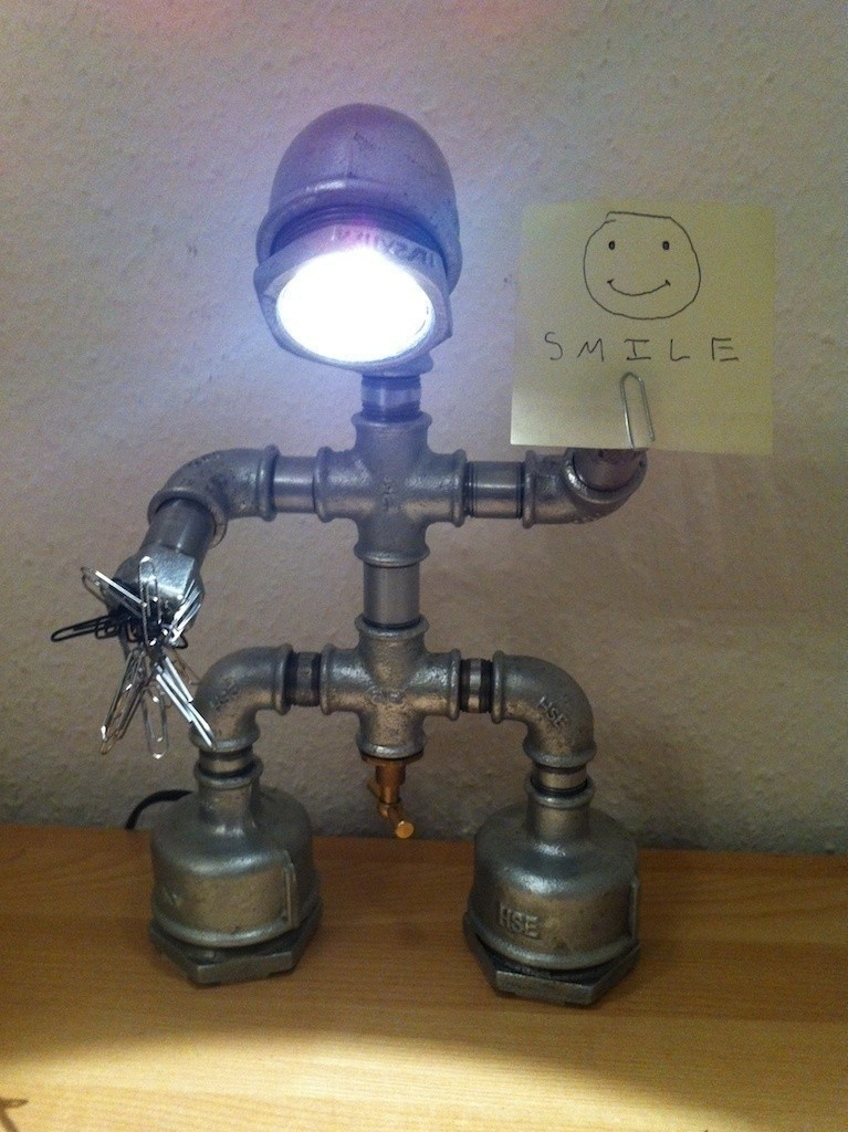 Iron Pipe Robot Desk Lamp  How To Make A Decorative Light