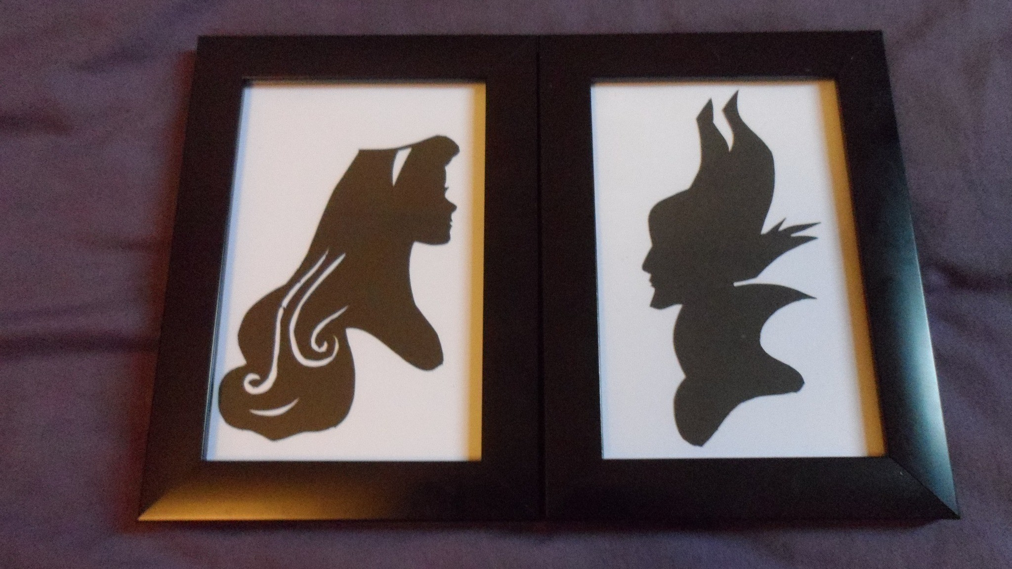 Sleeping Beauty Silhouettes How To Make Silhouette Art Art On Cut Out Keep