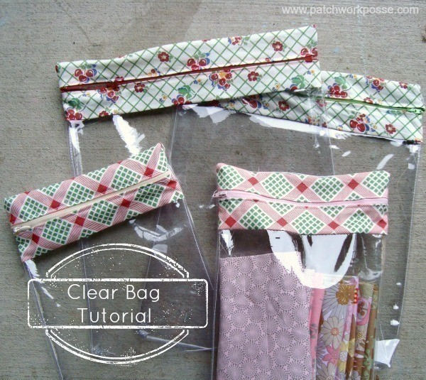 Clear Zipper Bag  How To Make A Zipper Pouch  Sewing on