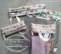 Clear Zipper Bag  How To Make A Zipper Pouch  Sewing on ...