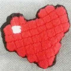 My 8 Bit Heart  How To Make A Shaped Cushion  Sewing and