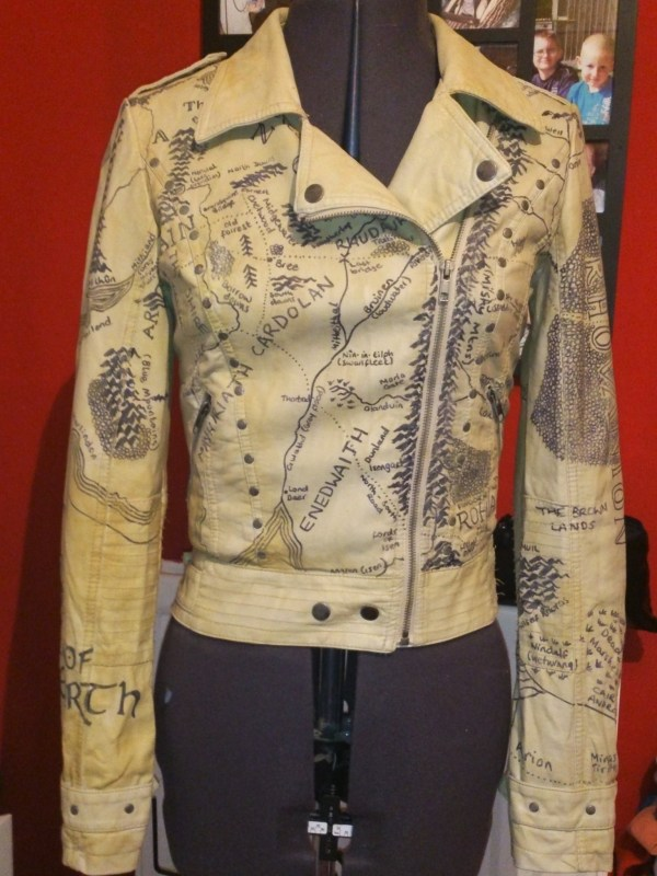 Middle Earth Jacket Leather Art Cut