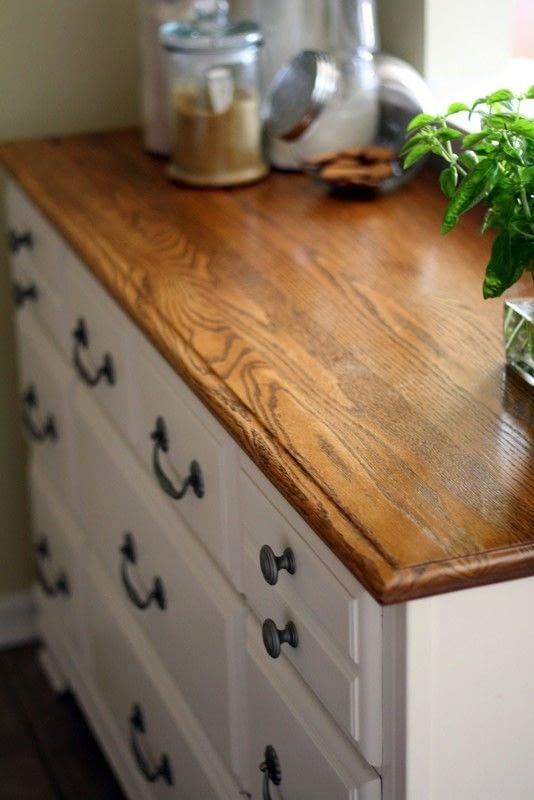 kitchen cabinet pictures electric stoves upcycled dresser turned · how to make a ...