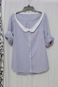 Thrifted Mens Shirt With Diy Peter Pan Collar  How To ...