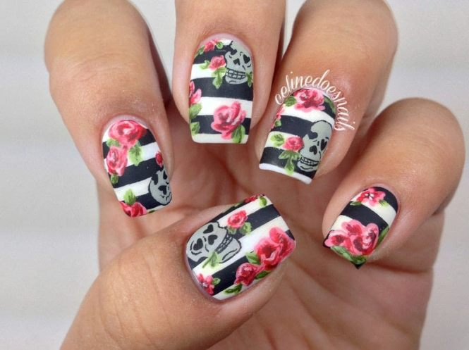 How To Do Rose Nail Art Designs