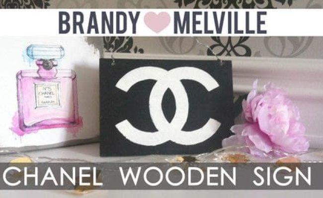 Diy Room Decor Brandy Melville Inspired Chanel Wooden