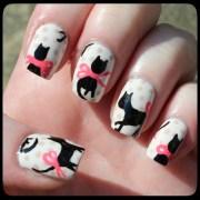 cat blouse nail art paint