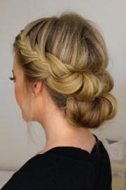 headband hair tuck with bun