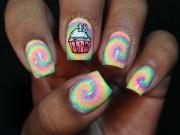diy tie dye nail art paint