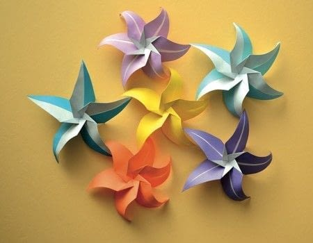 star flower origami diagram ethernet rj45 wiring flowers extract from lafosse alexander s kit free tutorial with pictures on how to make an