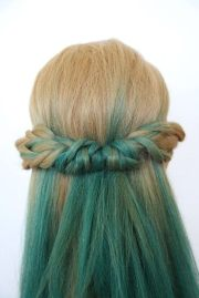 simple boho braided headband style