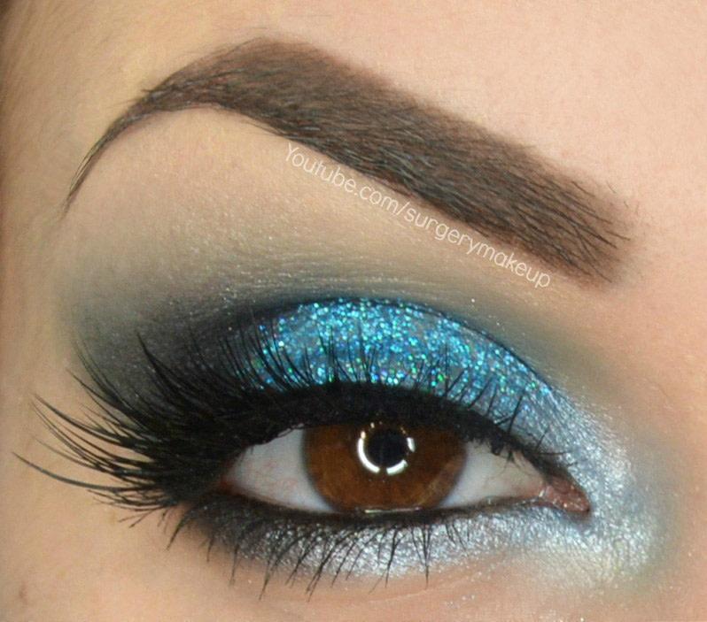 Glitter Ocean Make Up How To Create A Glitter Eye