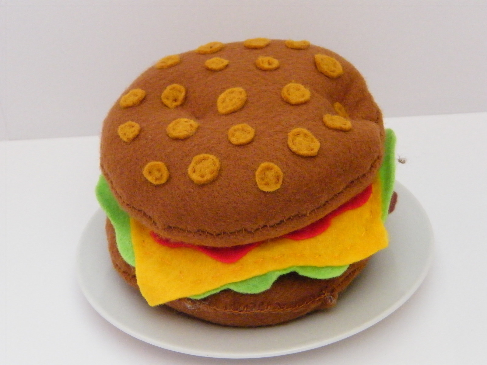 Cheese Burger A Burger Plushie Sewing On Cut Out Keep Creation By Emma A