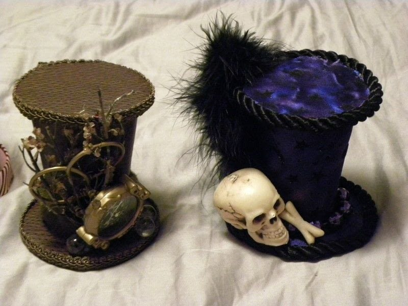 Mini Steampunk Hats  A Top Hat  Sewing on Cut Out  Keep  Creation by ZBlue