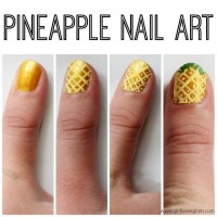 Pineapple Nail Art  How To Paint A Fruity Nail  Beauty ...