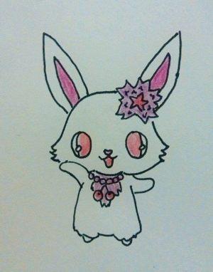 kawaii bunny animal doodle draw drawing cut drawings easy paper rabbits steps