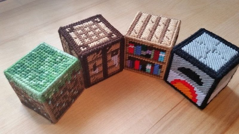 Minecraft In Plastic Canvas Starter Set  A Plushie Toy