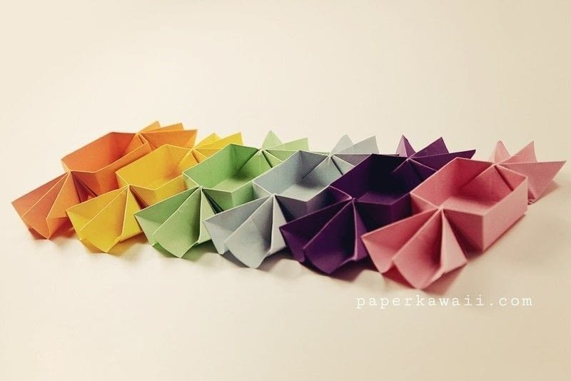 Origami Candy Shaped Box Tutorial 183 How To Fold An Origami