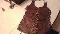 No Sew Leather Tank Top With Tie Sides  A Lace Up Top