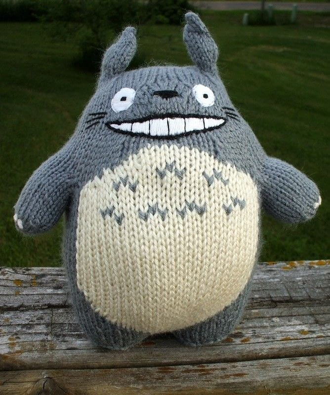 Knitted Totoro A Bear Plushie Yarncraft On Cut Out