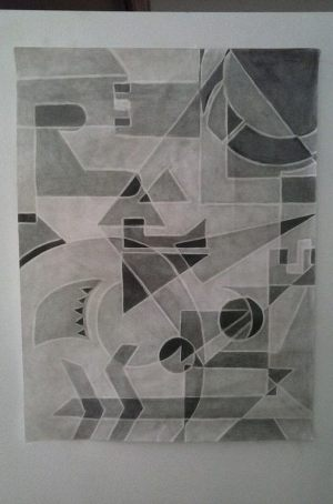 geometric shapes drawing drawings project portrait easy projects pencil paintings portraits