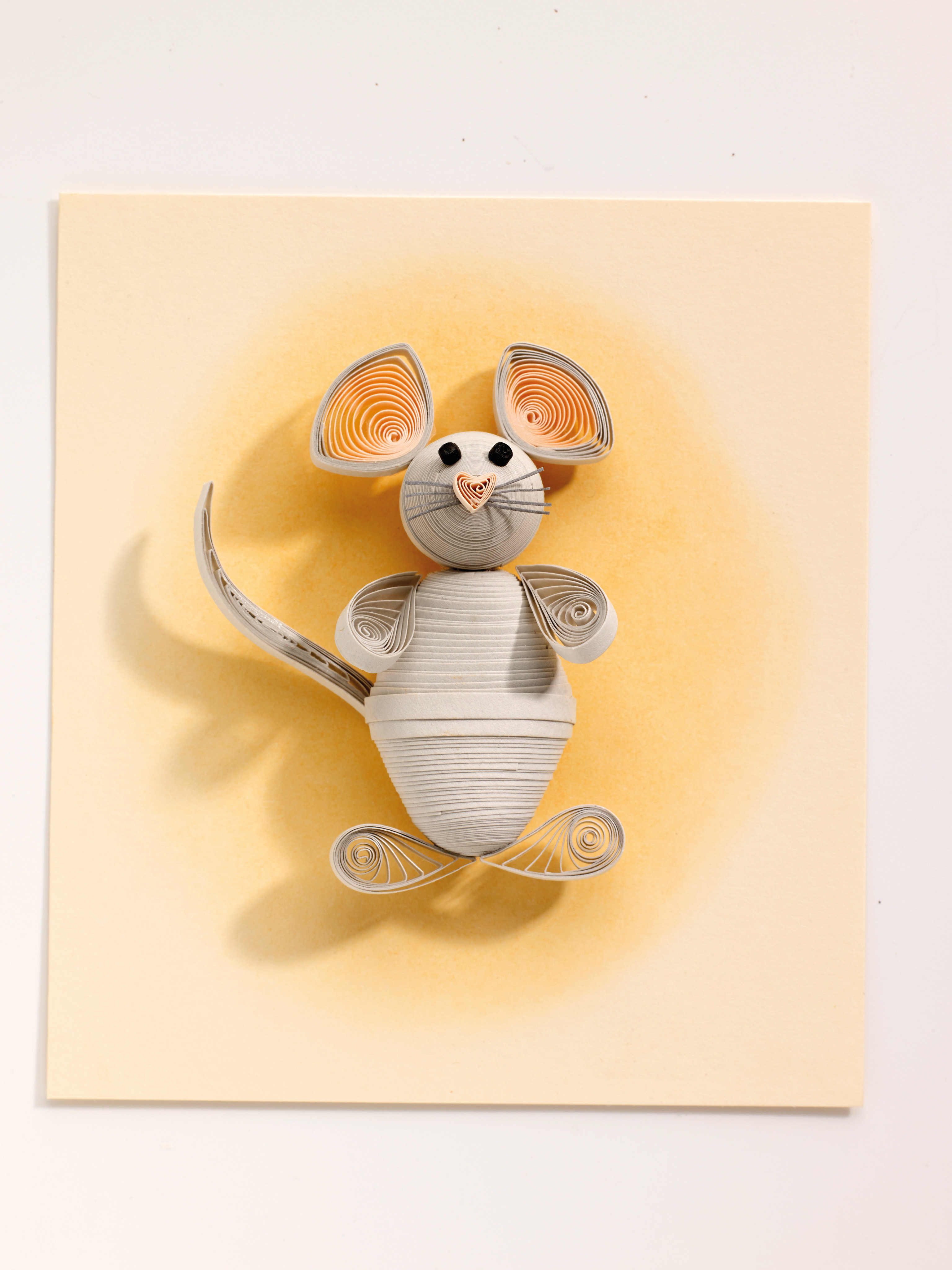 Paper Quilled Mouse · Extract From Quilled Animals By