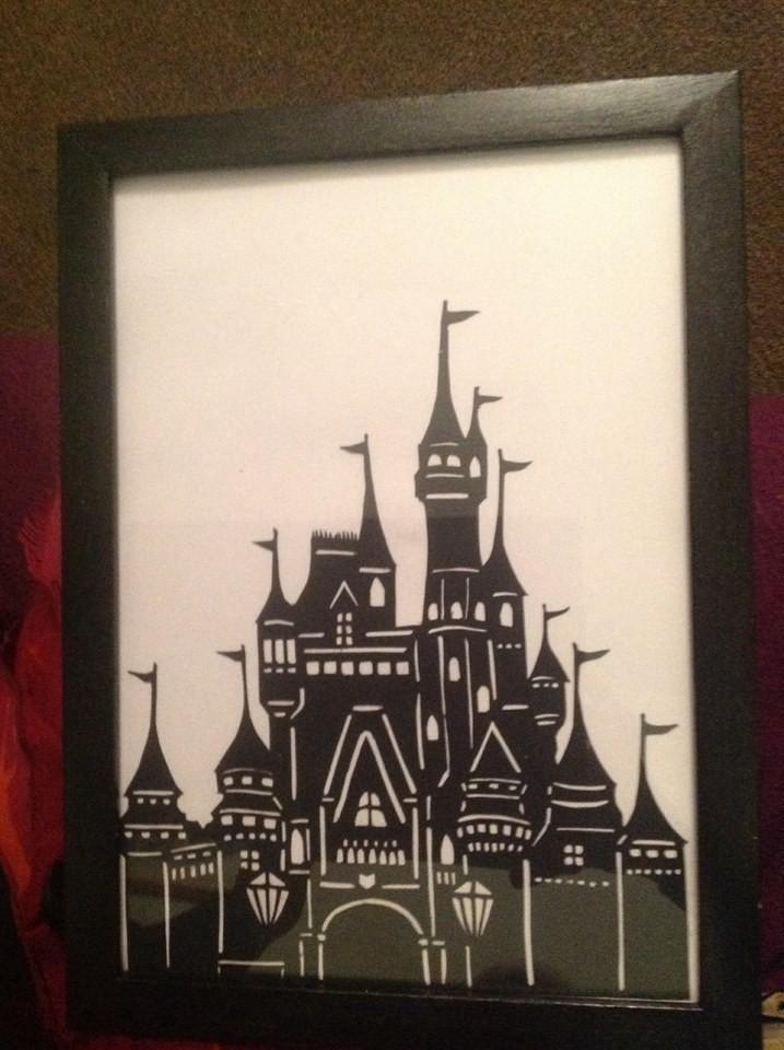 Disney Castle Papercut  How To Cut A Piece Of