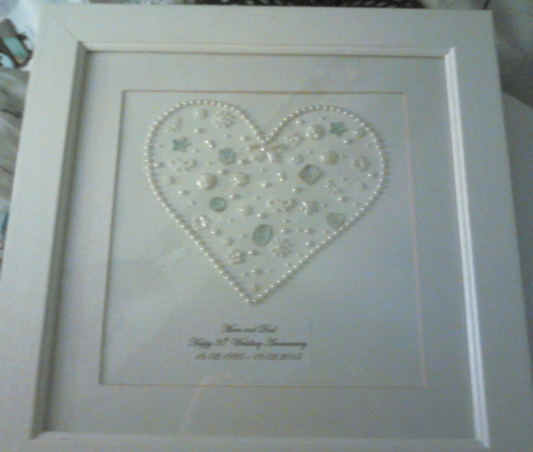 30th Wedding Anniversary A Framed Decoration Art On Cut Out Keep