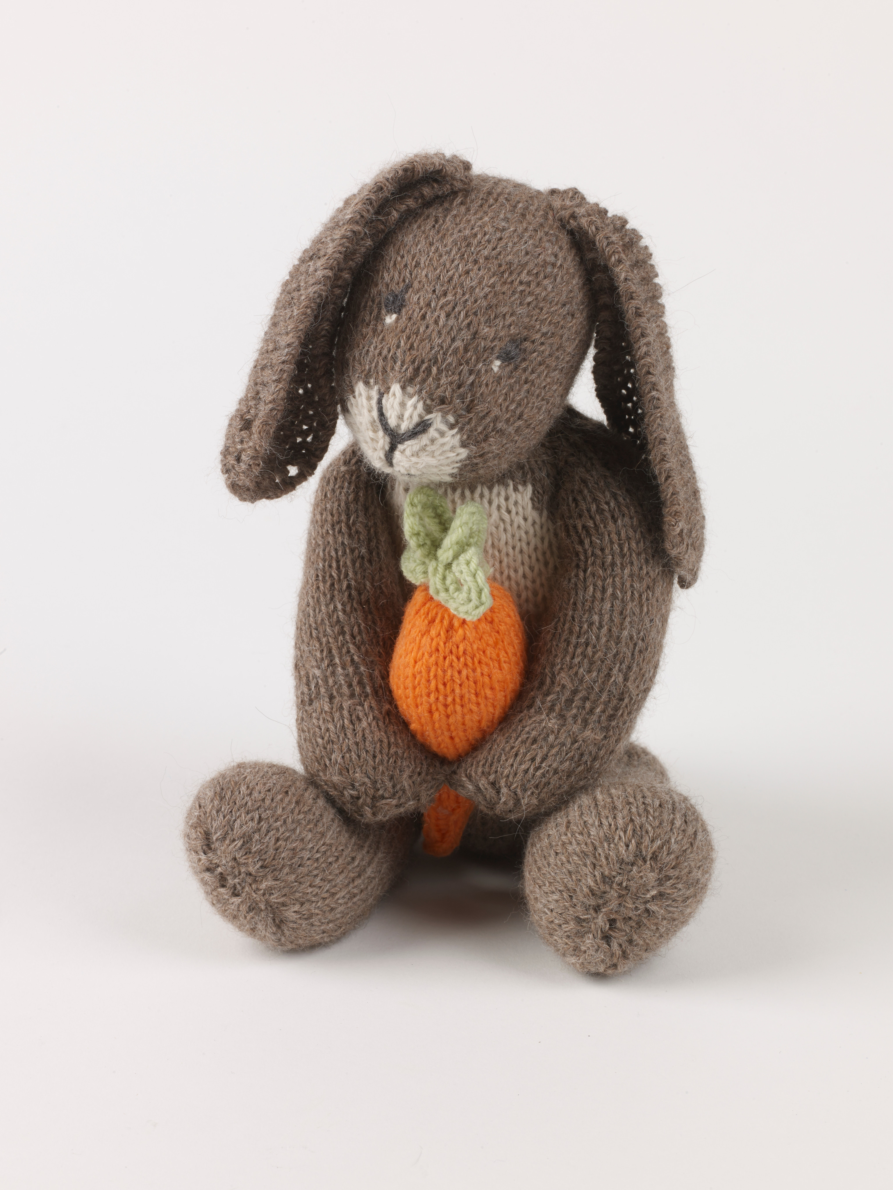 Bunny With Carrot  Extract from Knitted Rabbits by Val