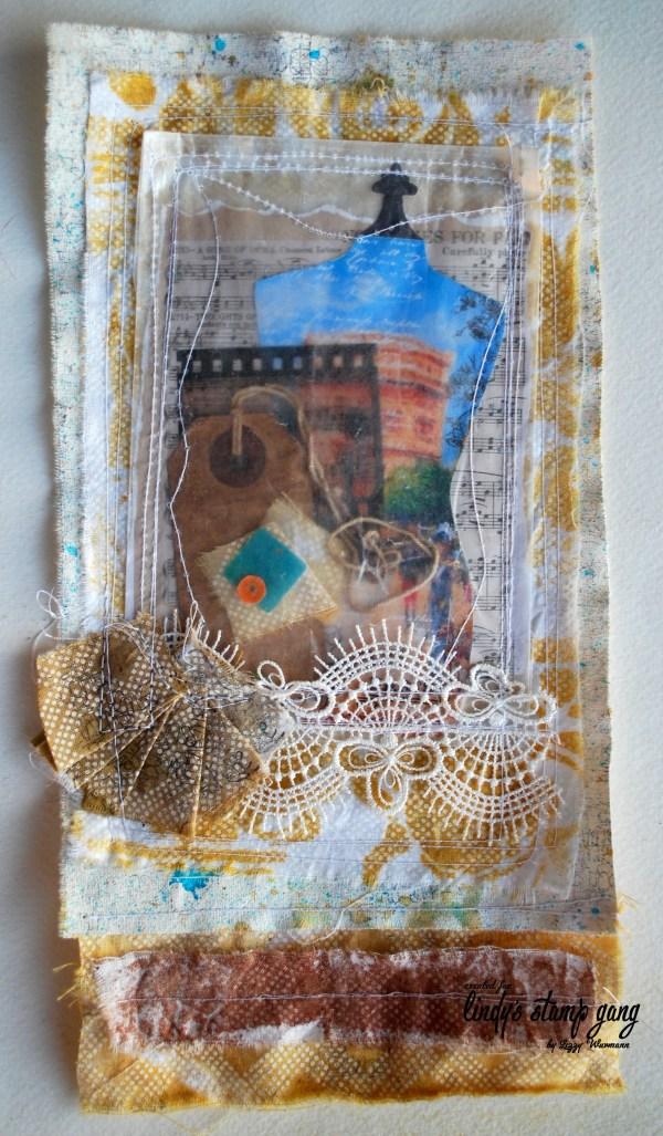 Fabric Collage Make Art Cut