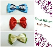 diy hair bows 4 ribbons