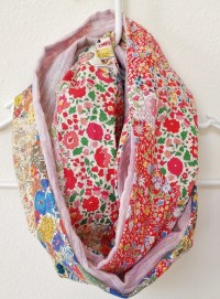 Diy Patchwork Infinity Scarf  How To Make A Fabric Scarf ...