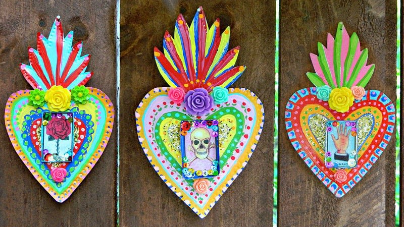 Mexican Tin Folk Art  How To Make Wall Decor  Art on Cut Out  Keep