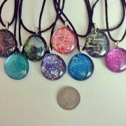 nail polish glass necklace pendants