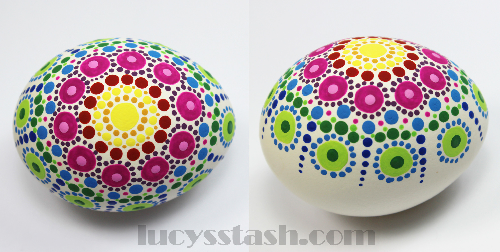 Dotted Rainbow Easter Egg  How To Make A Decorative Egg