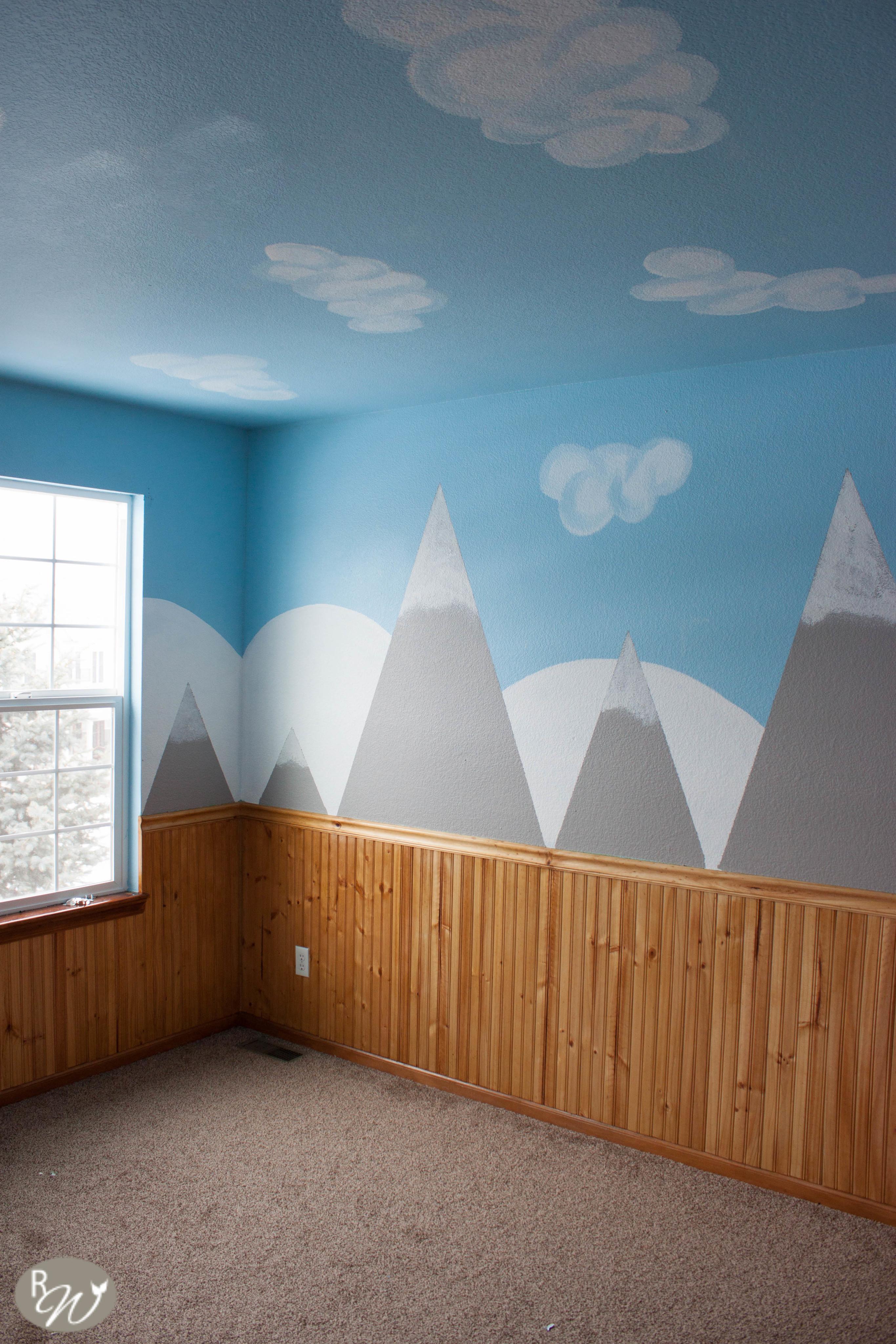 Diy Mountain Wall Tutorial 183 How To Make Wallpaper A