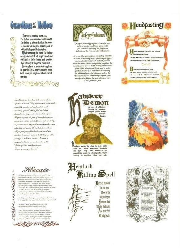 Book Of Shadows Replica Pages A Journal Art On Cut Out