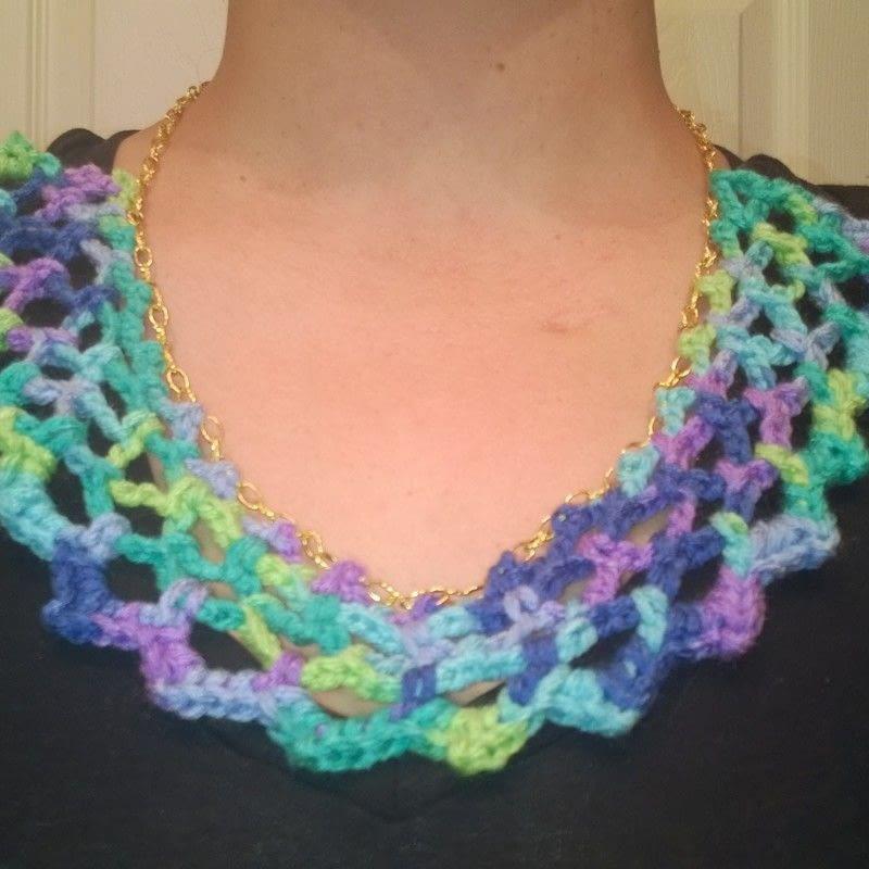Crochet Necklace  A Knit Or Crochet Necklace  Yarncraft
