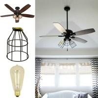 DIY Cage Light Ceiling Fan  A Hanging Light  Home + DIY ...