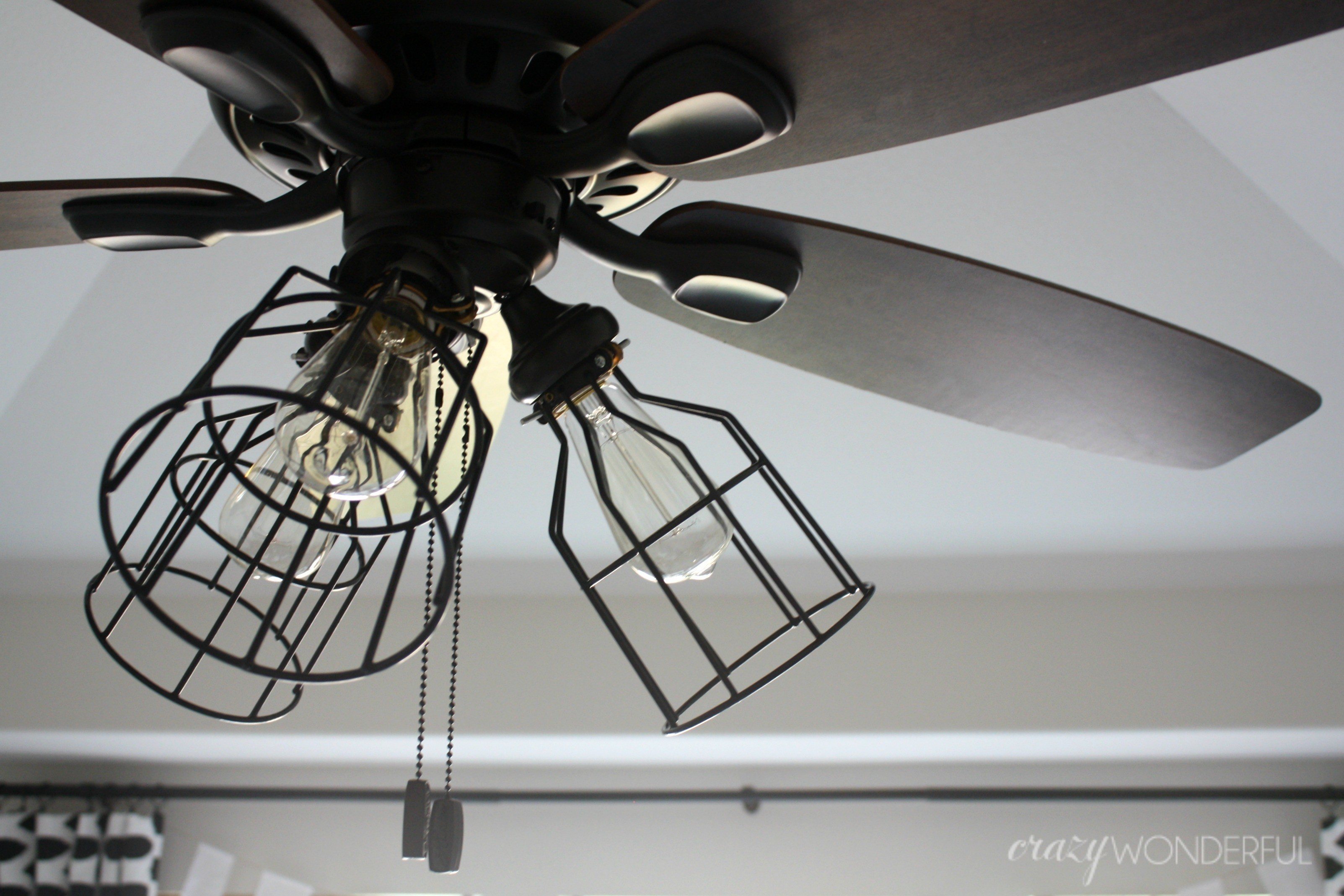 DIY Cage Light Ceiling Fan  A Hanging Light  Home  DIY on Cut Out  Keep