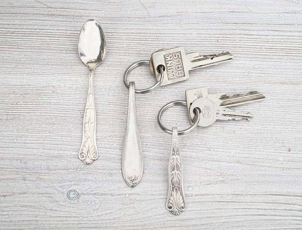 Silverware Key Chain · How To Make A Charm / Keyring