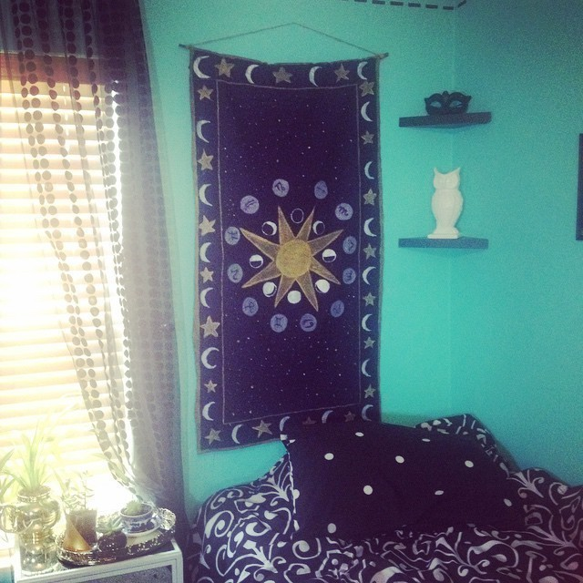 Diy Celestial Tapestry How To Make A Hanging Decorating On Cut Out Keep