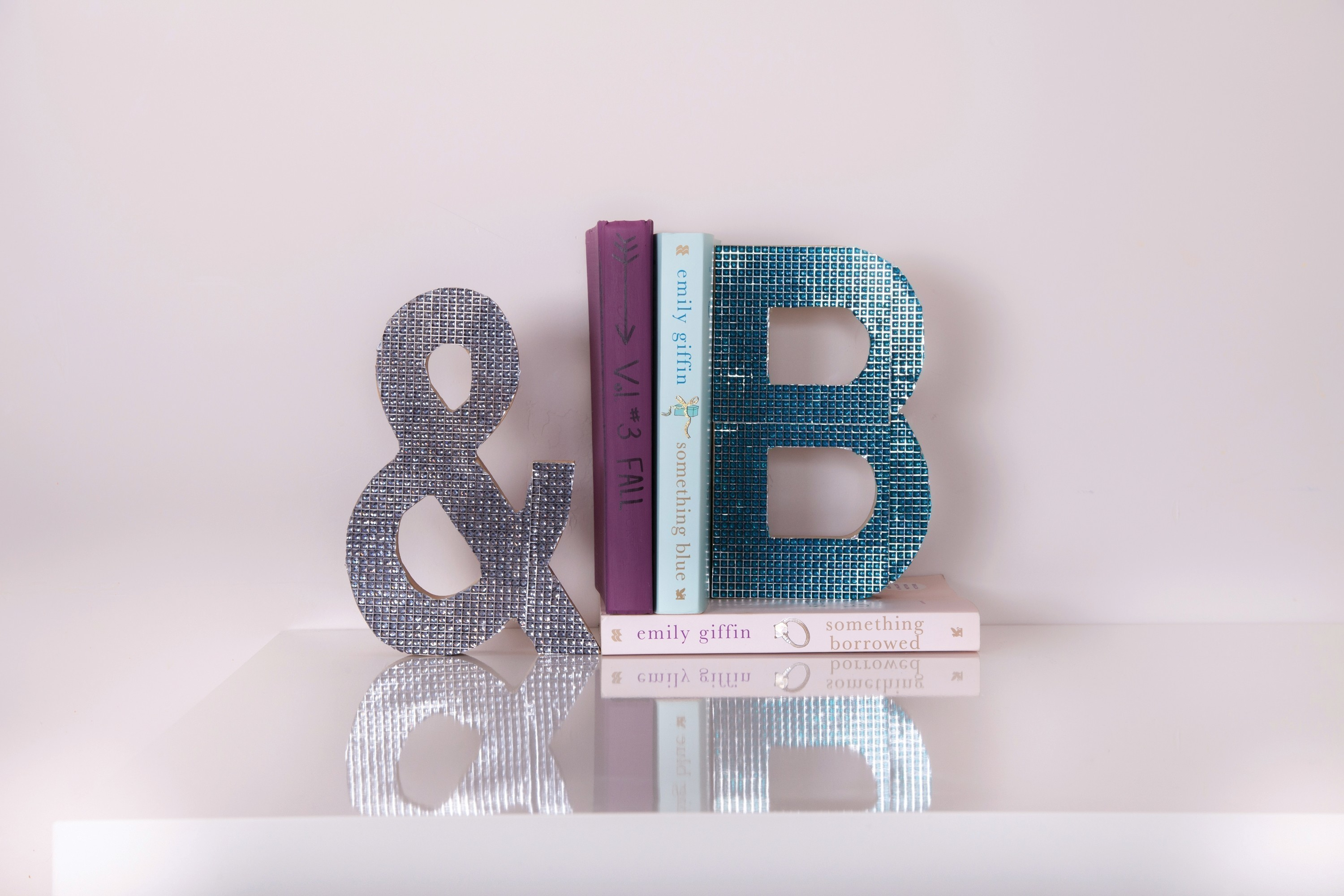 Rhinestone Letter Bookends  Extract from DIY Bedroom Dcor by Tana Smith  How To Make A Book End