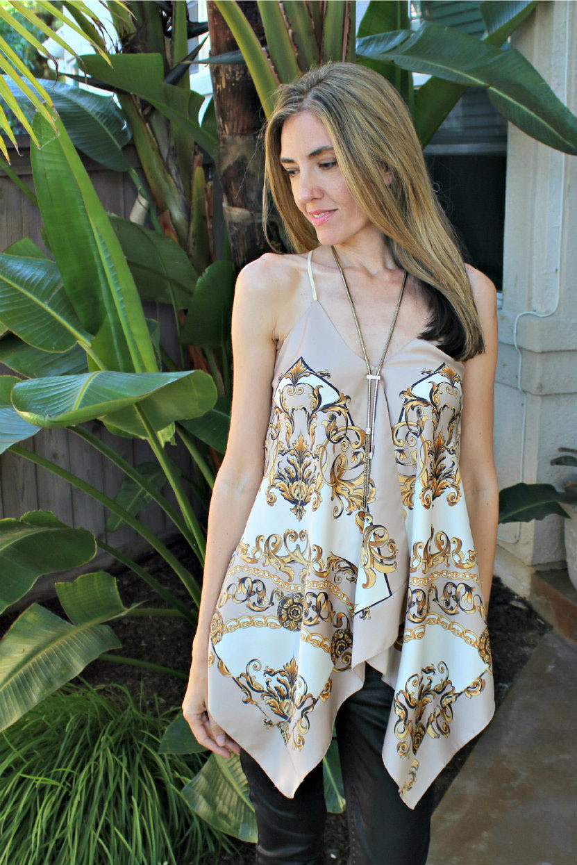 DIY A Scarf Halter Top  How To Make A Strapless Top  Sewing on Cut Out  Keep