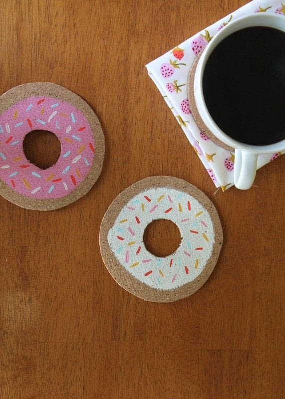Doughnut Coasters  How To Paint A Painted Coaster