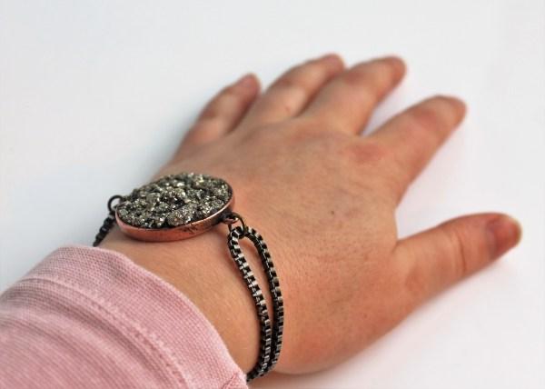 Pyrite Bracelet With Nunn Design' Crystal Clay