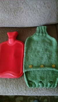 Knitting Pattern Hot Water Bottle Cozy  How To Make A Hot ...