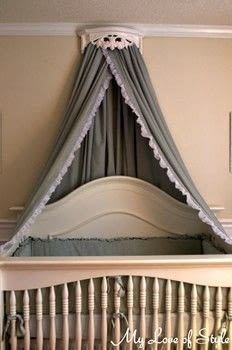 Bed Crown  Canopy Tutorial  How To Make A Bed Canopy  Home  DIY on Cut Out  Keep
